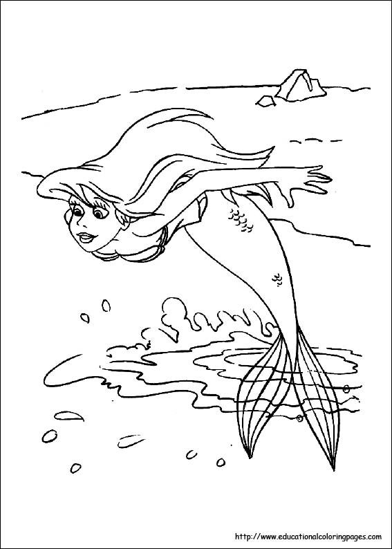 Coloring Pages Of Ariel In The Sea : Coloring pages of ariel in the sea little