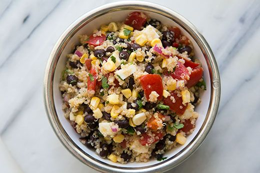 Mexican Quinoa Salad with Black Beans, Corn, and Tomatoes | Recipe