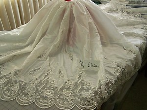 Christmas tree skirt a 6 ft diameter ebay made from wedding gowns