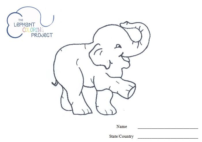 elephant coloring Baby Shower Pinterest