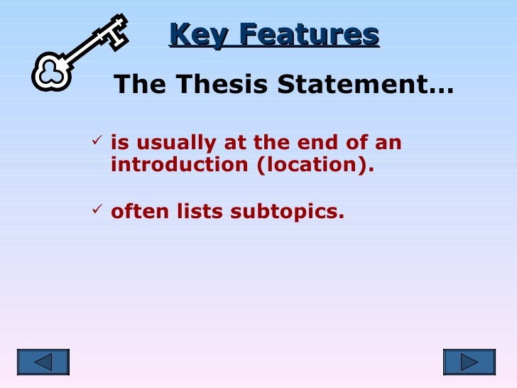 exercises on thesis statement writing