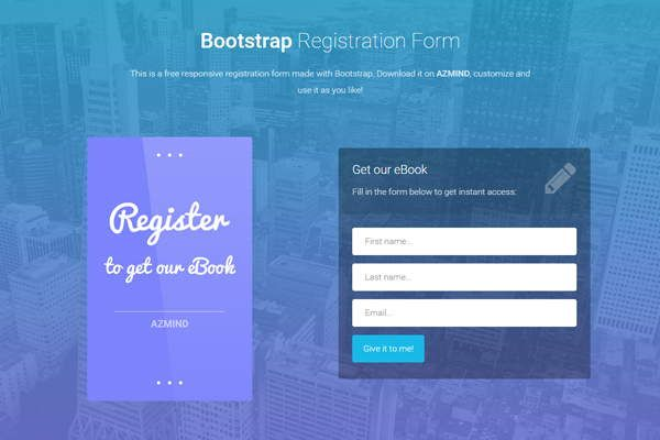 Bootstrap Registration Form Template Trattorialeondoro