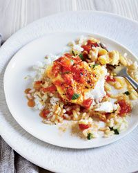 Cod with Fresh Tomato Sauce and Arborio Rice Recipe from Food & Wine ...