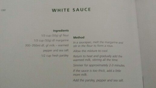 Gluten dairy free white sauce recipe | food | Pinterest