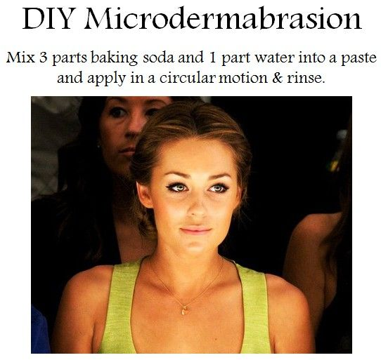 microderm lauren conrad method. might need to try this.