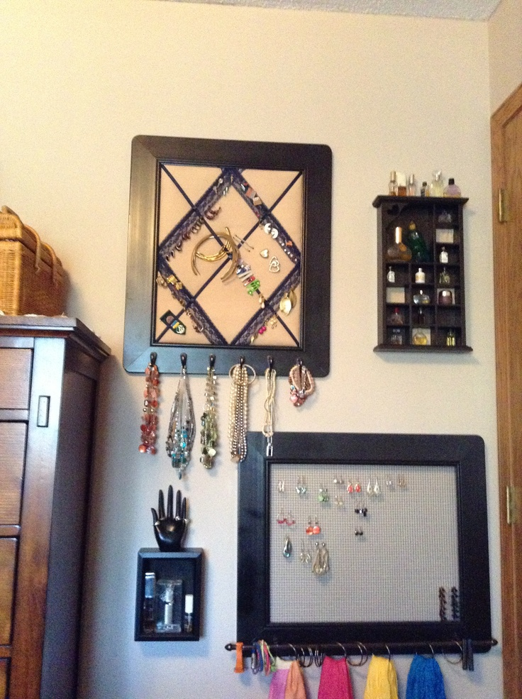 ... curtain rod from Target; hooks, shower curtain rings & spray paint