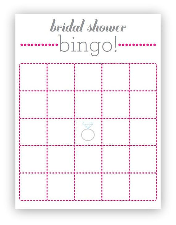 bridal showers too. Either we make up the items, or we provide blank ...