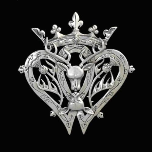 Luckenbooth pin with stag - gorgeous