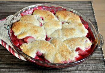 Individual Raspberry Cobblers Recipe — Dishmaps