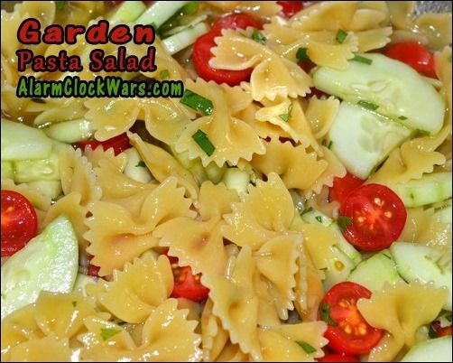 Garden Pasta Salad is a great fast and easy way to use those fresh ...