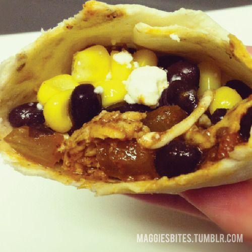 chicken corn and bean salsa tacos | food & drink | Pinterest