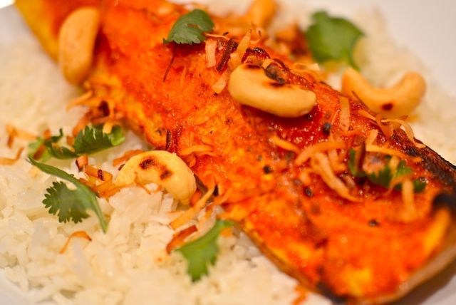 Red Curry Glazed Butternut Squash With Coconut Rice Recipe ...