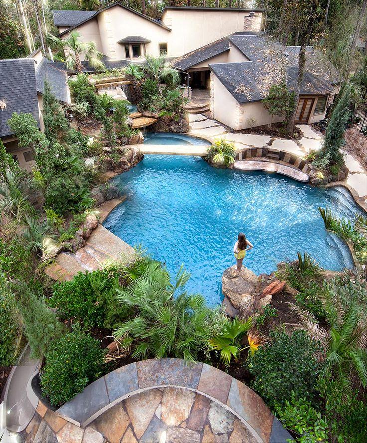 Beautiful Backyards Without Pools : Hans and Jennifers backyard  Beautiful Pools  Pinterest