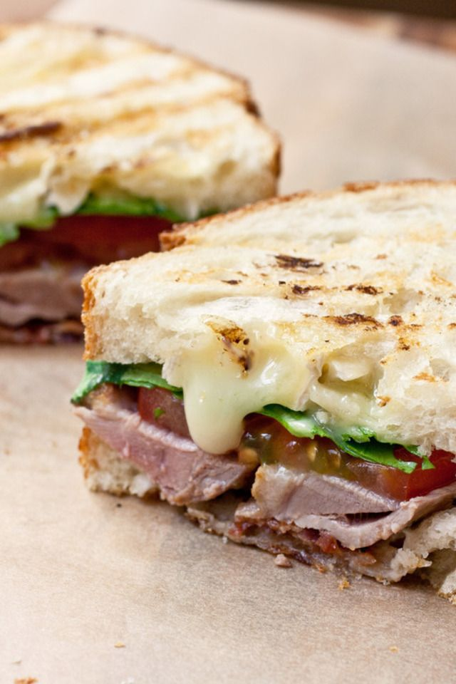 Grilled Duck Breast Club Panini | yum | Pinterest