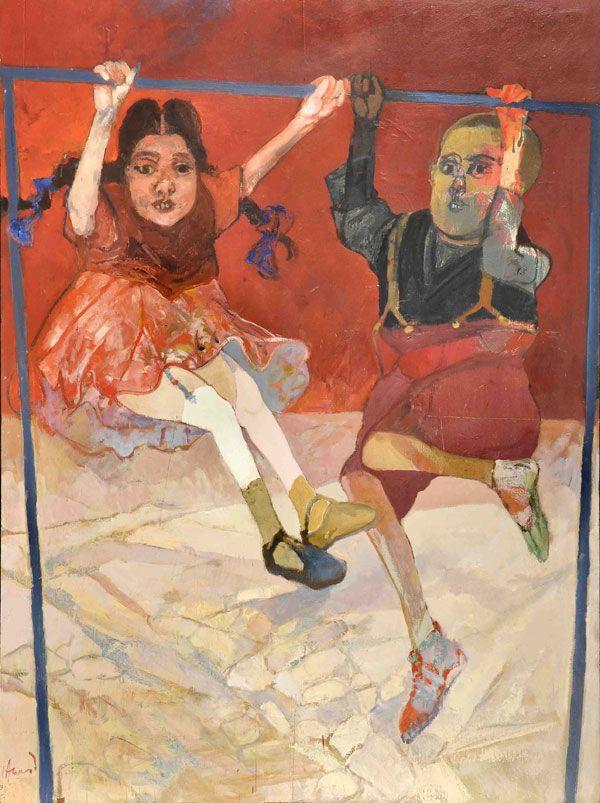 """""""Niños colgados Nº3"""" del artista argentino Carlos Alonso (1998)"""
