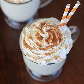 Pumpkin Spice White Hot Chocolate | recipes | Pinterest