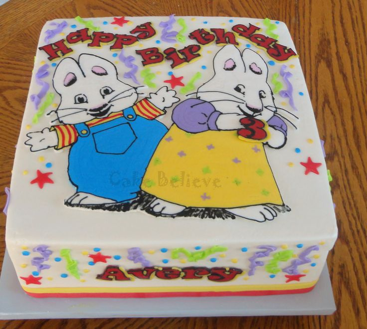 Max And Ruby Birthday Cake Topper