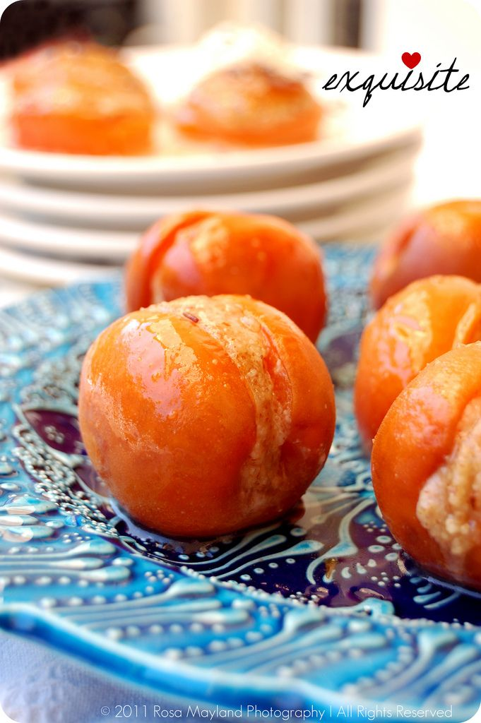 Baked Apricots Stuffed with Almond Paste