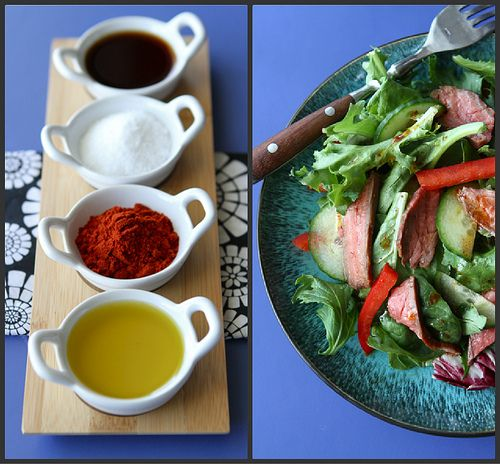 Grilled Flank Steak Salad with Smoked Paprika Dressing | Recipe