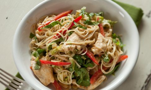 Chinese Chicken and Noodle Salad with Peanut Sauce | Recipe