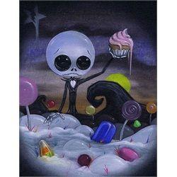 Nightmare in Candyland by Sugar Fueled Jack Skeleton Canvas Art Print