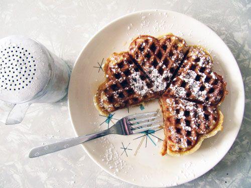 Cardamom Sour Cream Waffles #recipe #brunch
