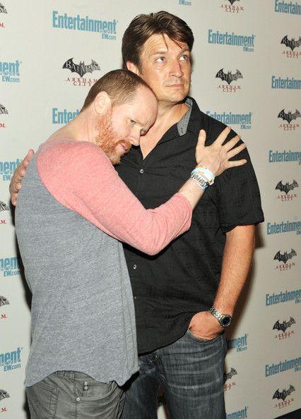 Joss Whedon and Nathan Fillion. Hahahaha!