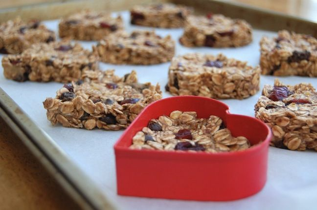 Heart-Shaped Almond Coconut Granola Bars | yumyums | Pinterest