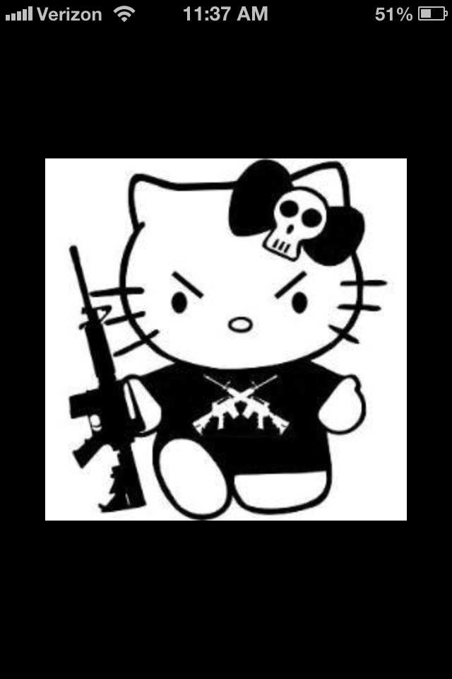 Badass hello kitty tattoos