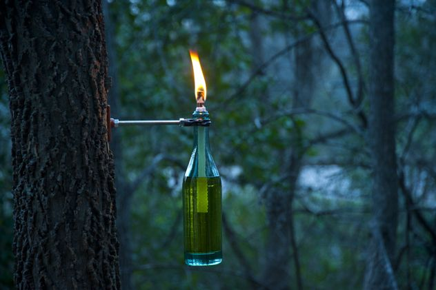 How to make a wine bottle torch!