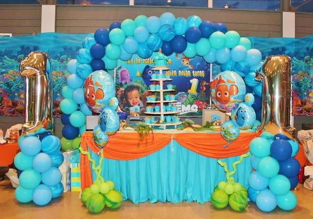 finding nemo balloon decorations | Finding Nemo theme / Birthday / Featured Photo: balloon decor by me