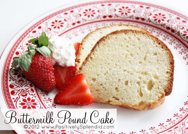OLD-FASHIONED BUTTERMILK POUND CAKE | Yum Yums | Pinterest