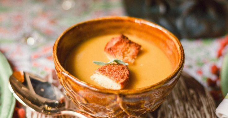 Butternut Squash & Apple Soup with Homemade Croutons | Recipe