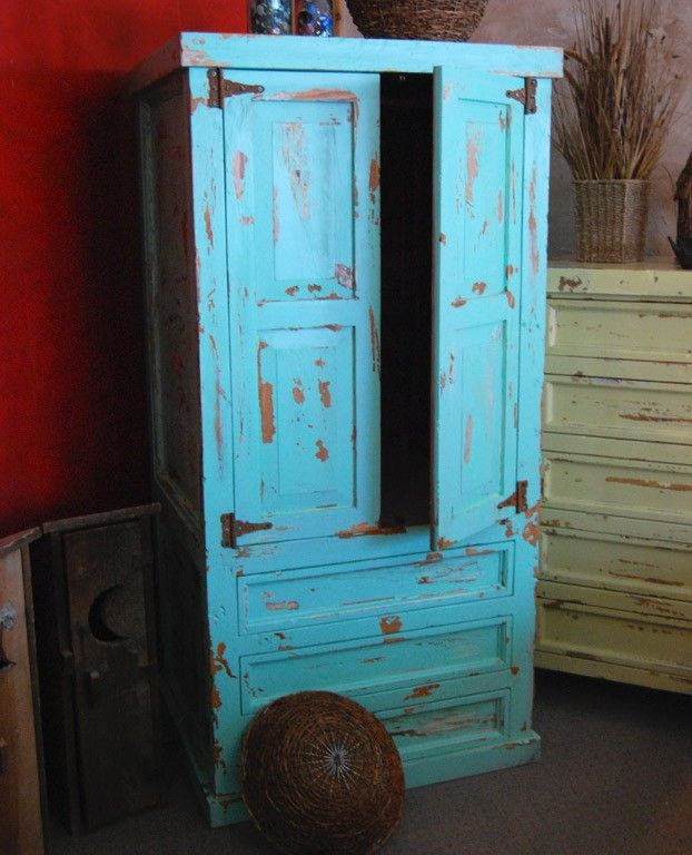 Distressed Furniture Love The Color Turquoise Furniture