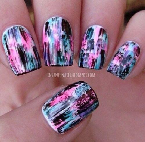 Bright Splatter Manicure