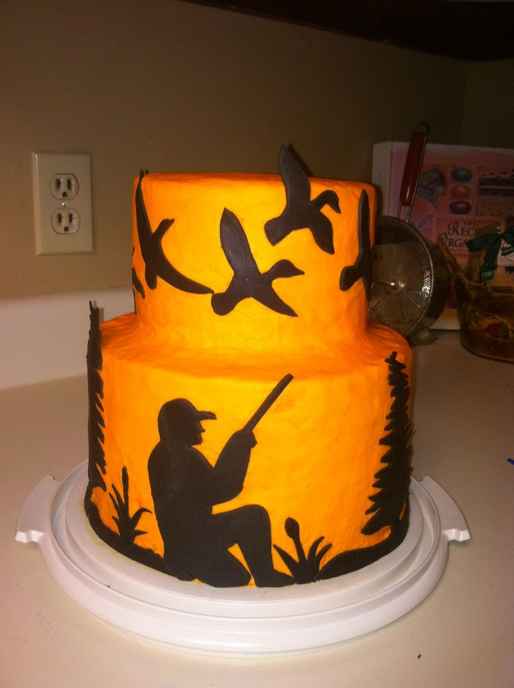 Gallery For gt Duck Hunting Wedding Cakes