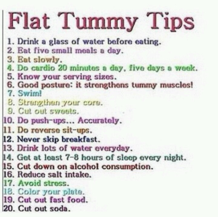 For Flat Tummy Tips