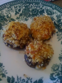 """Boursin cheese stuffed mushrooms 