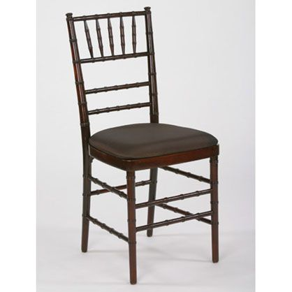 Fruitwood chiavari chairs from classic wedding peach charcoal gray
