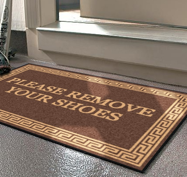 Asking guests to remove their shoes what do you think - No shoes doormat ...