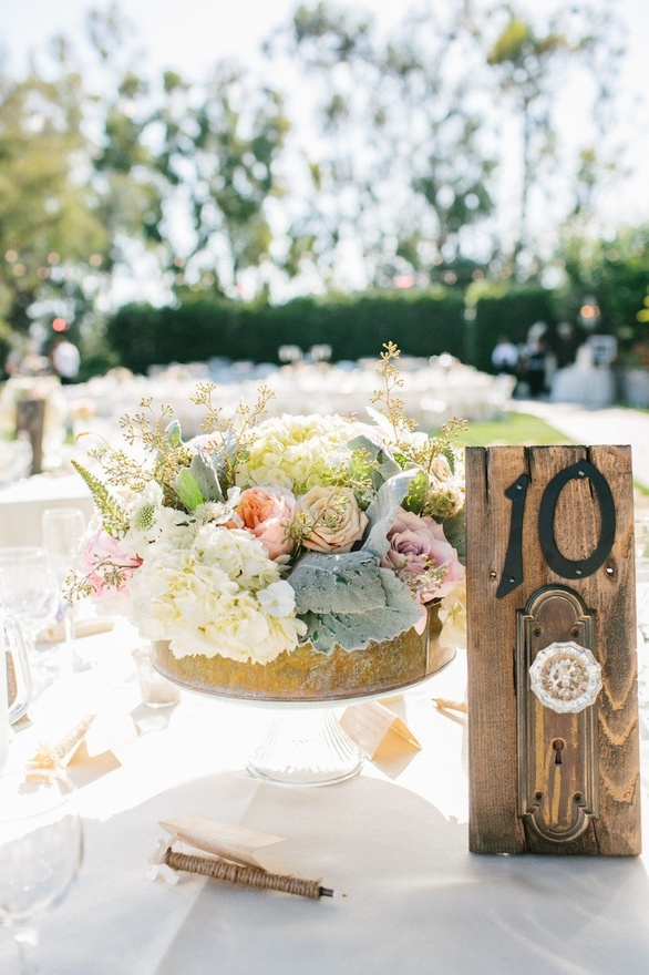 Embrace the barn aesthetic with the table number