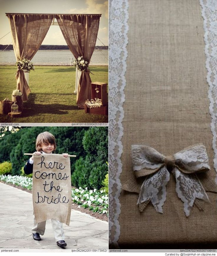 Burlap wedding ideas mary ann pinterest
