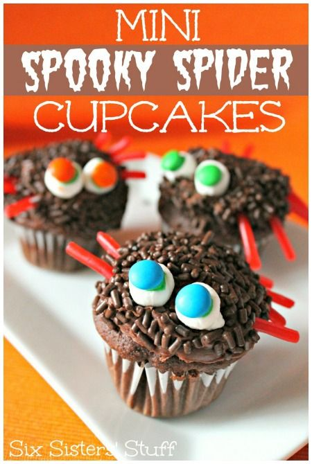 Halloween spooky spider cupcakes #Cupcakes #Halloween