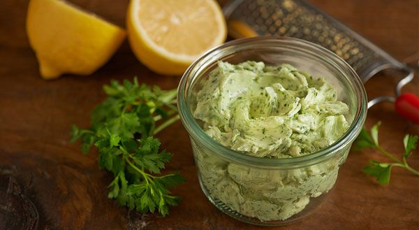 ... lemon zest into the butter. This compound butter is perfection when
