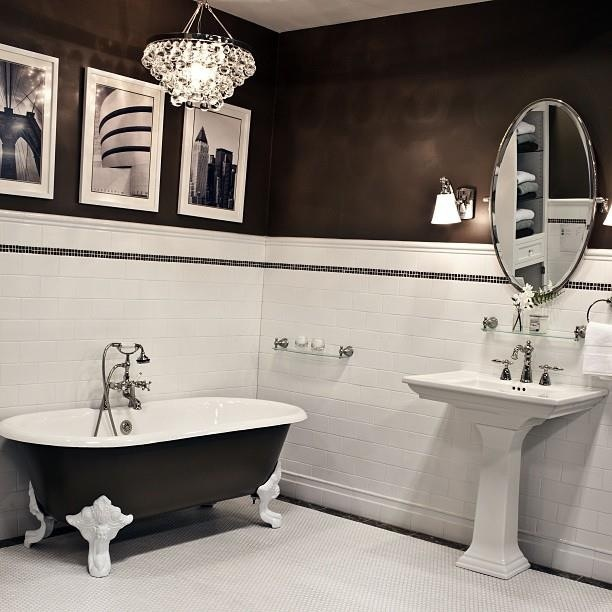 black and white and red interior design master bathroom pint : bathroom black red white