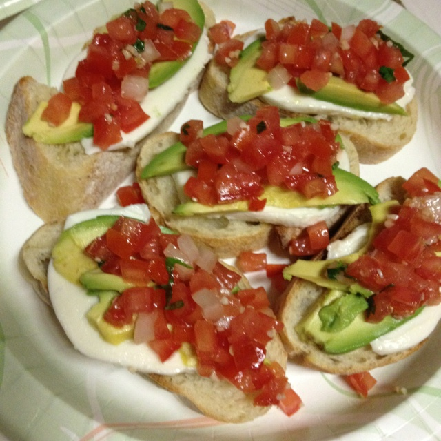 Avocado bruschetta!! | Food is the way to the heart