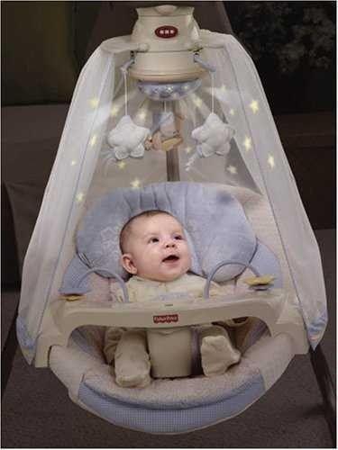 Fisher Price Starlight Papasan Cradle Swing Baby Infant