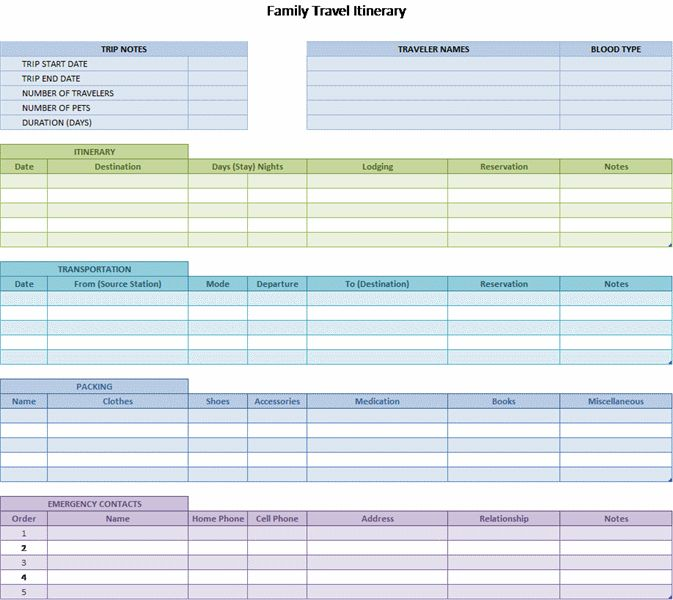 ... Trip Itinerary Template   Microsoft's Best Excel Spreadsheet Templates