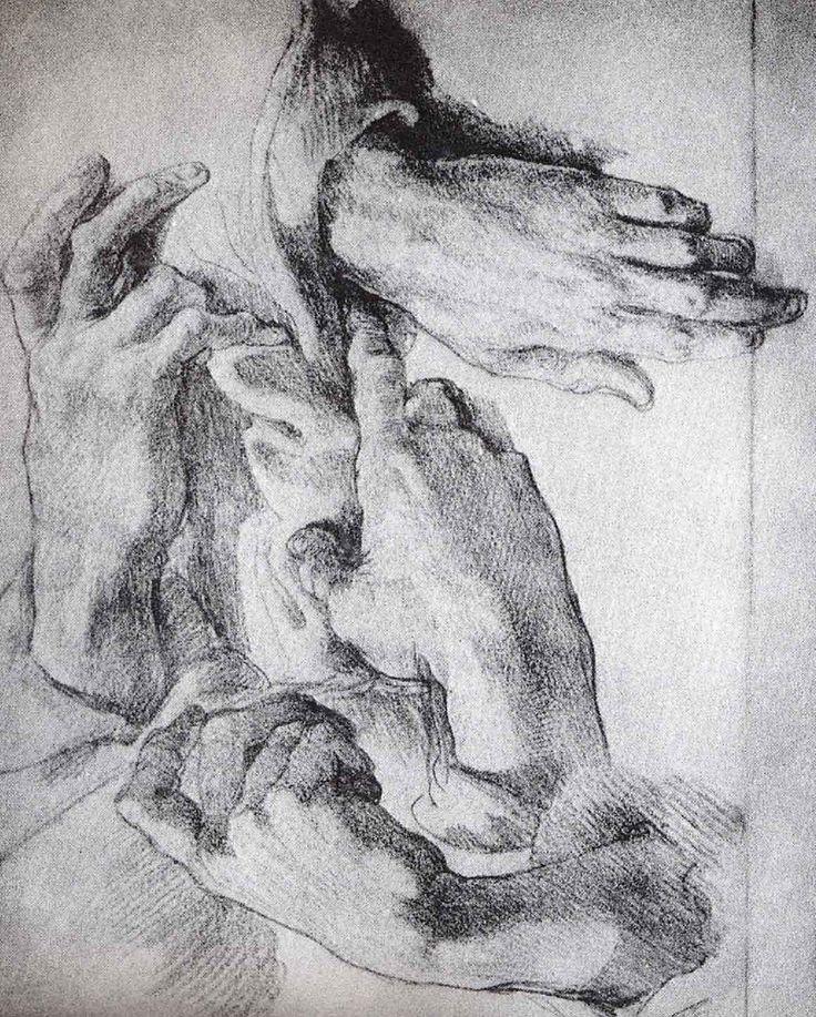 dibujar las manos a carboncillo