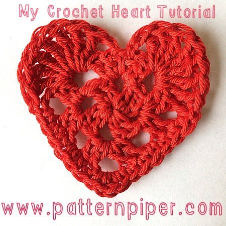 Free crochet heart tutorial Crochet Hearts Pinterest